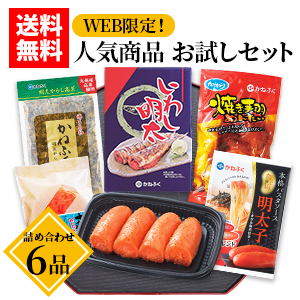 【WEB限定】人気商品お試しセット6品